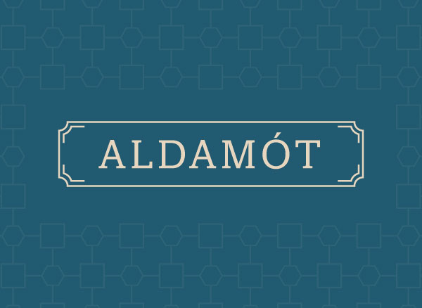 Aldamót bar logo