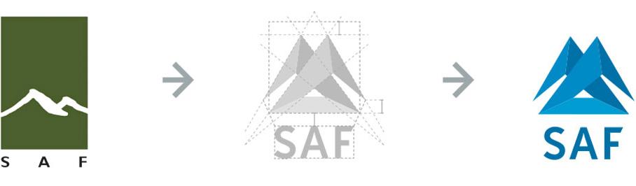 Endurmörkun á SAF logo